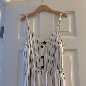 H&M Romper, stripped with buttons